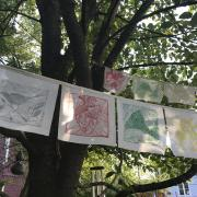 peace flags, detail